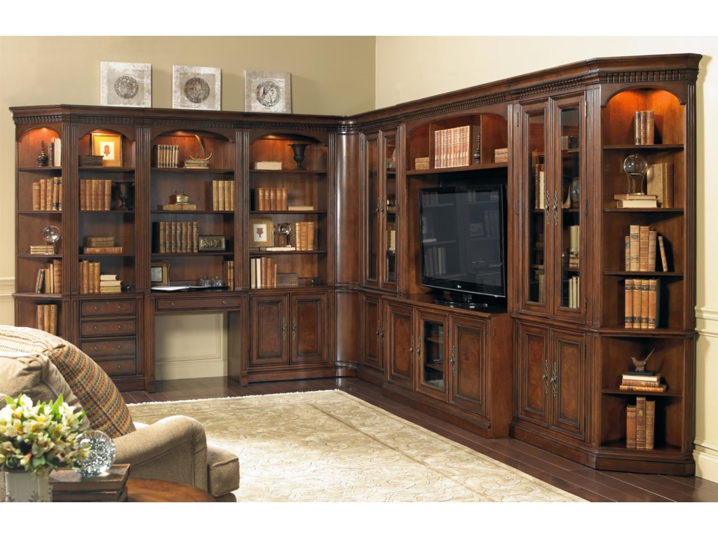 Hooker Furniture European Renaissance IIGrand Scale Corner Wall Unit