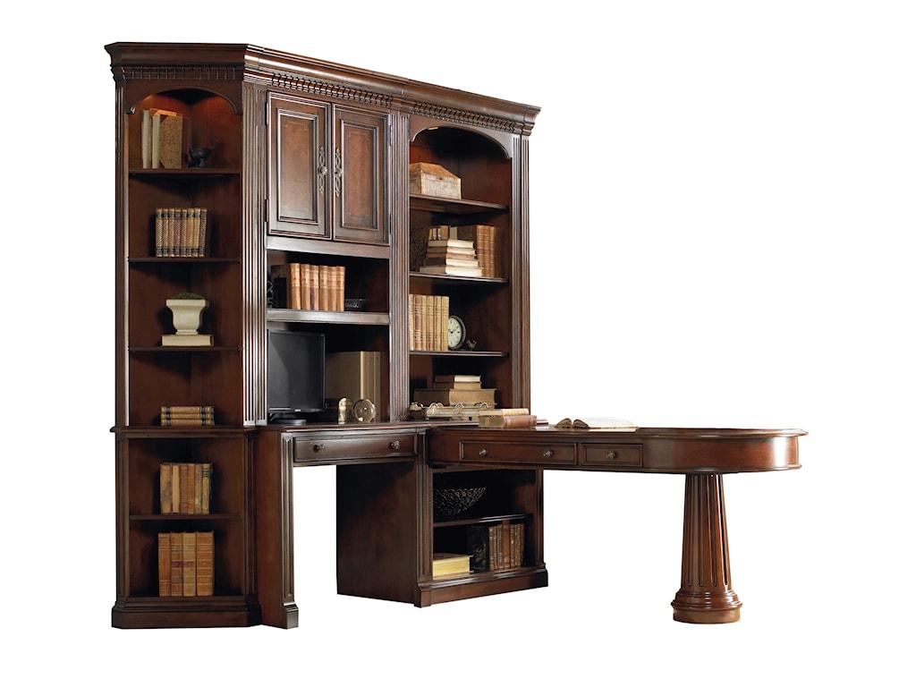 Hooker Furniture European Renaissance IIL-Shaped Office Wall