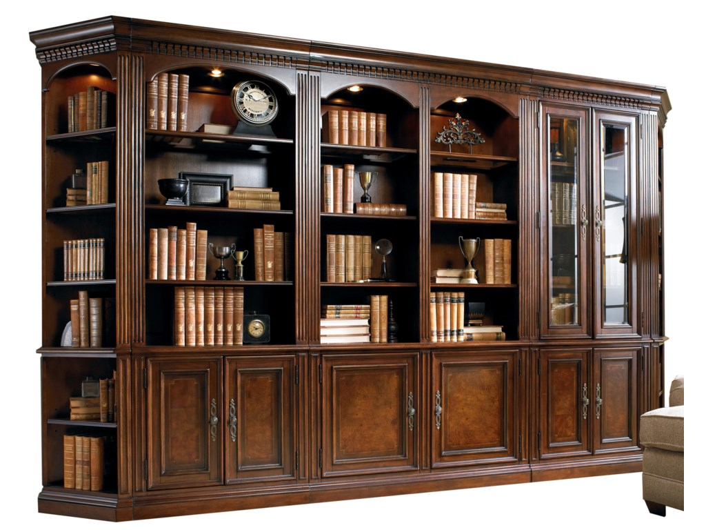 Furniture European Renaissance Iifive Piece Library Wall Unit