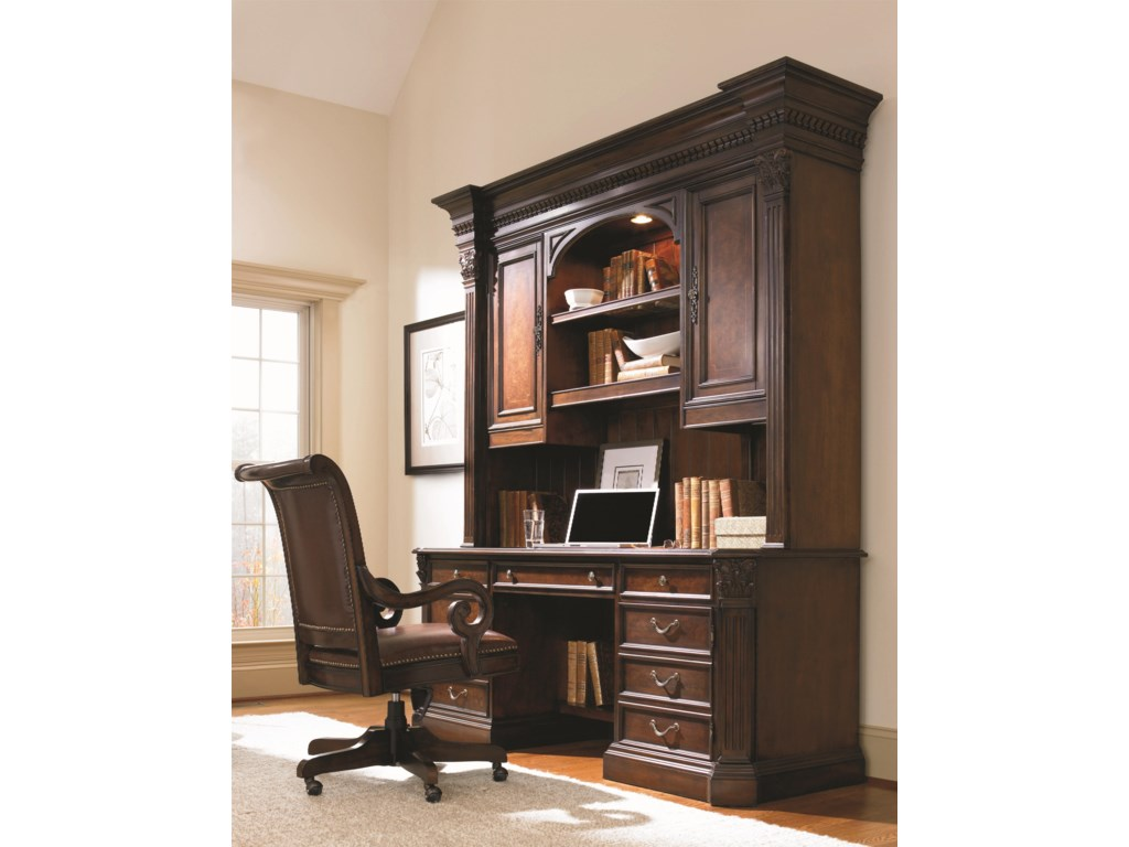 Shown with Credenza Hutch and Tilt Swivel Chair