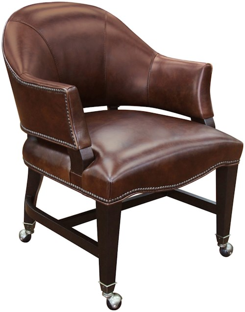 Hamilton Home Game Chairs Leather Game Chair with Swivel Casters