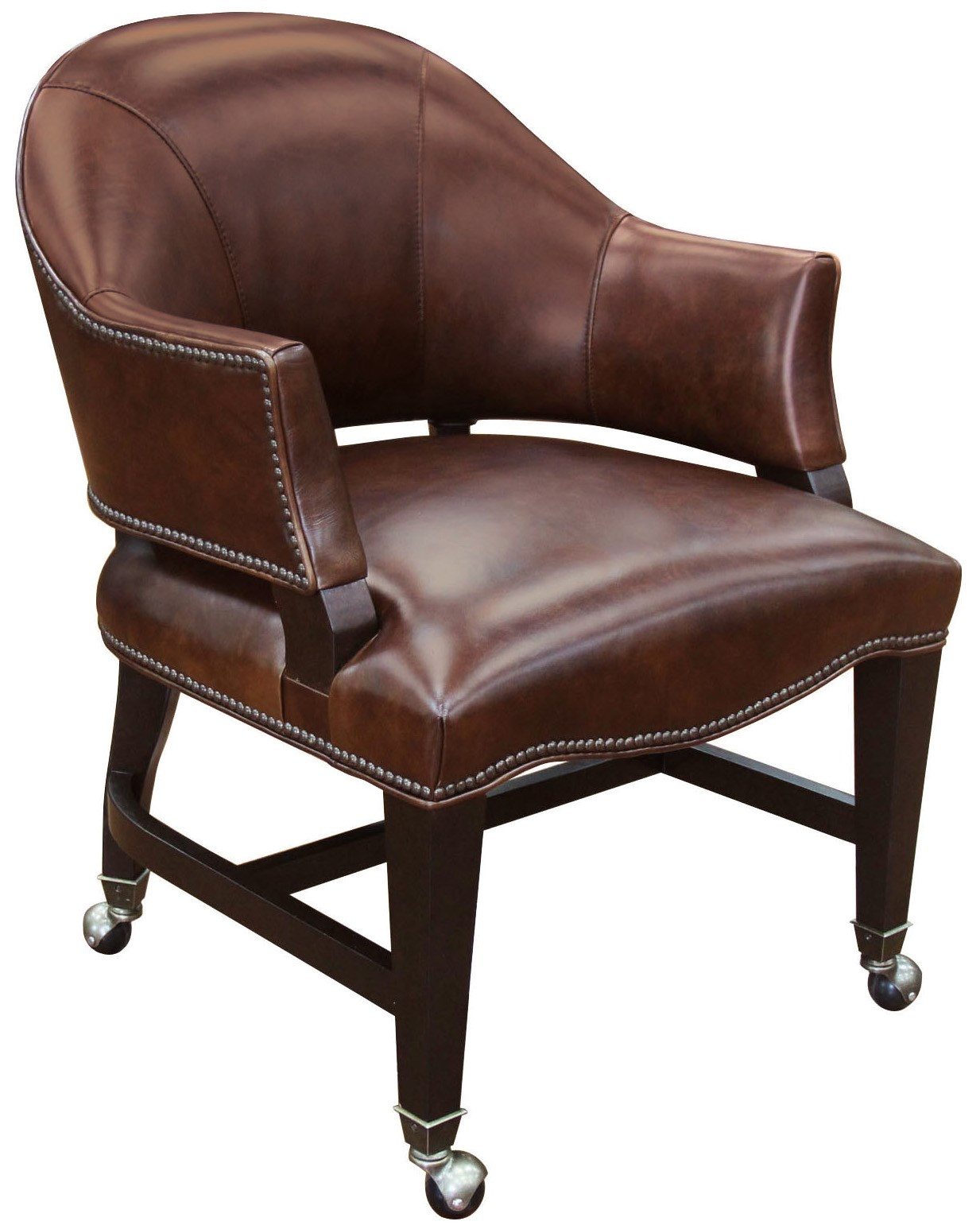 Game Chairs Leather Game Chair With Swivel Casters By Hooker Furniture
