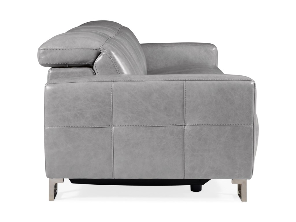 Hooker Furniture GiancarloMotion Leather Sofa with Power Headrest