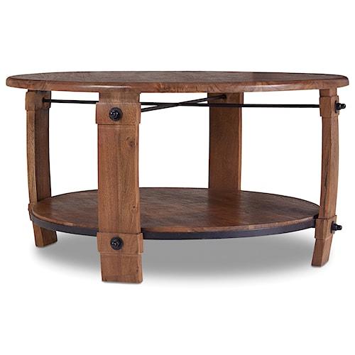 Hooker Furniture Glen Hurst Round Wine Barrel Cocktail Table