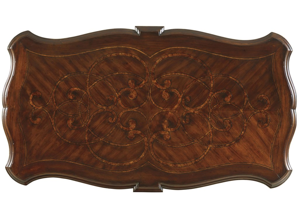 View of Table Top Highlights Marquetry Design