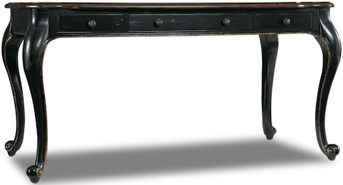 Hooker Furniture Grandover Writing Desk with Leather Writing Surface and Cabriole Leg