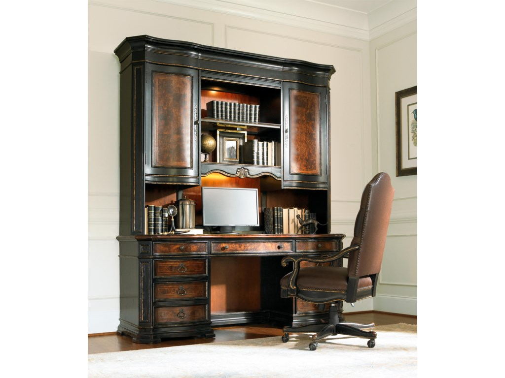Shown with Computer Credenza Hutch and Tilt Swivel Chair
