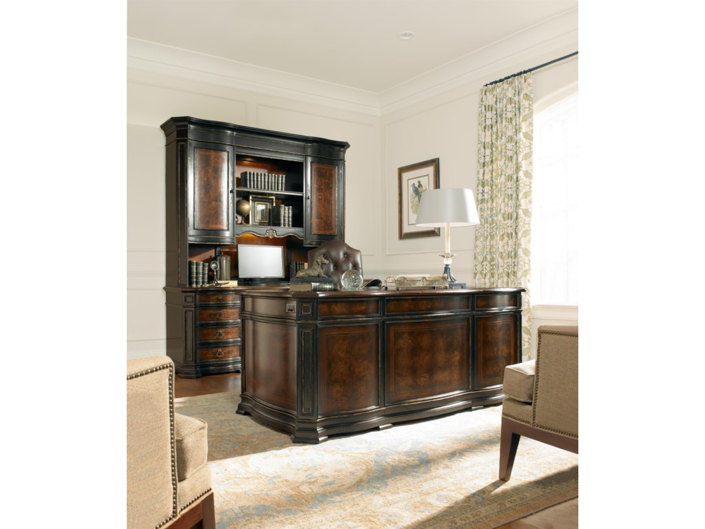 Shown with Computer Credenza, Computer Credenza Hutch and Tilt Swivel Chair