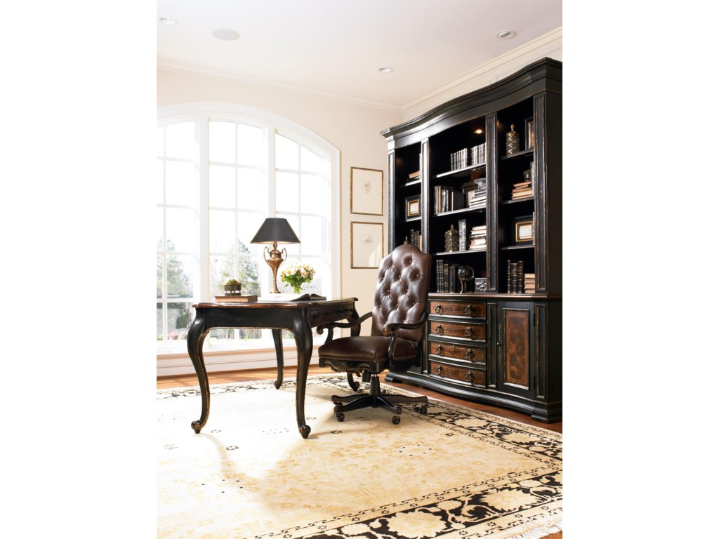 Shown with Writing Desk, Bookcase Base and Bookcase Hutch