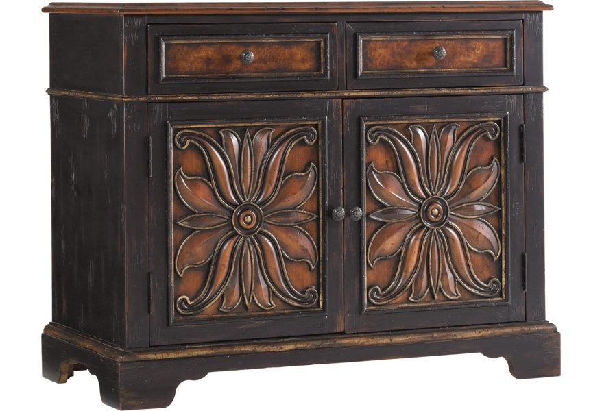 Hooker Furniture Grandover 5029 85002 Two Door Accent Chest With Two Drop Front Drawers O Dunk O Bright Furniture Accent Chests