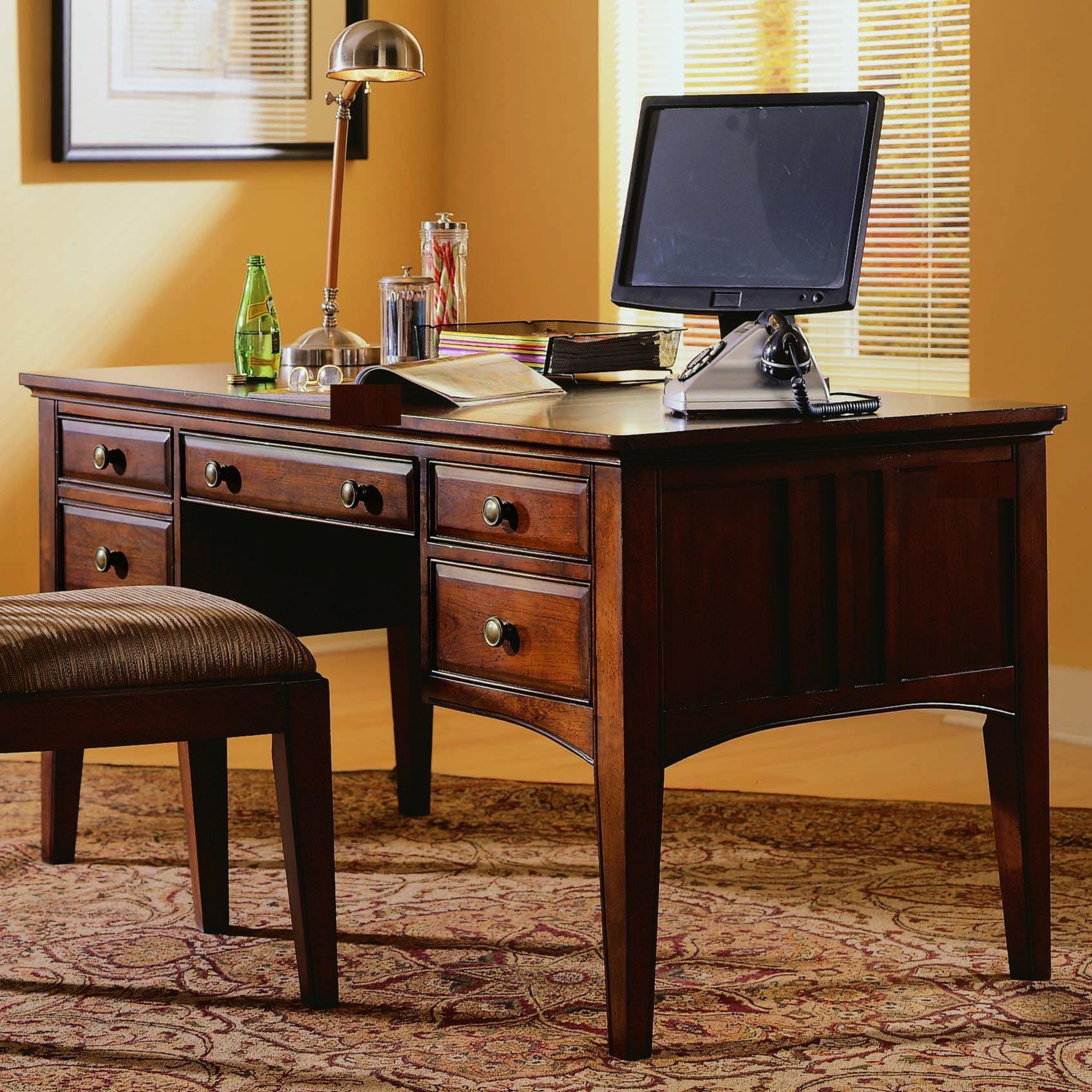 hooker furniture desk. Unique Desk Hooker Furniture Seven Seas Double Pedestal Writing Desk To I