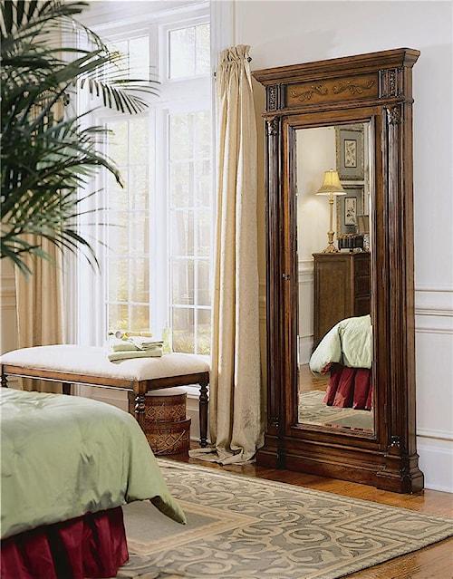 Hooker Furniture Seven Seas Floor Mirror with Jewelry Armoire