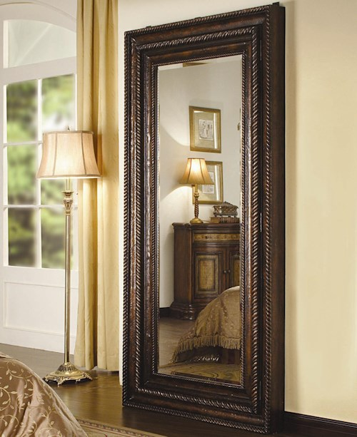 Hamilton Home Seven Seas Floor Mirror with Hidden Jewelry Storage
