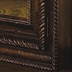 Heavily Gadrooned Frame with Rope Molding