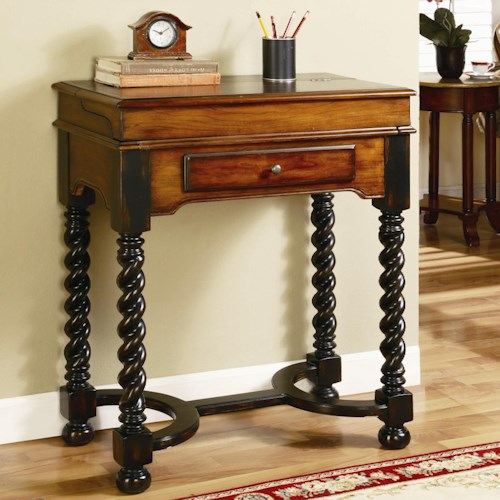 Hamilton Home Seven Seas Jacobean Twist Leg Flip Top Writing Desk
