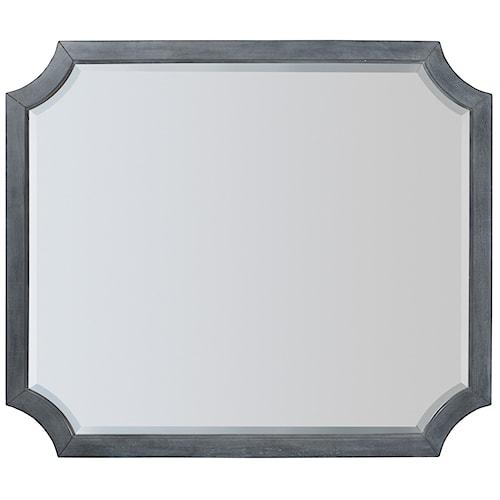Hooker Furniture Hamilton Transitional Dresser Mirror with Cutout Corners