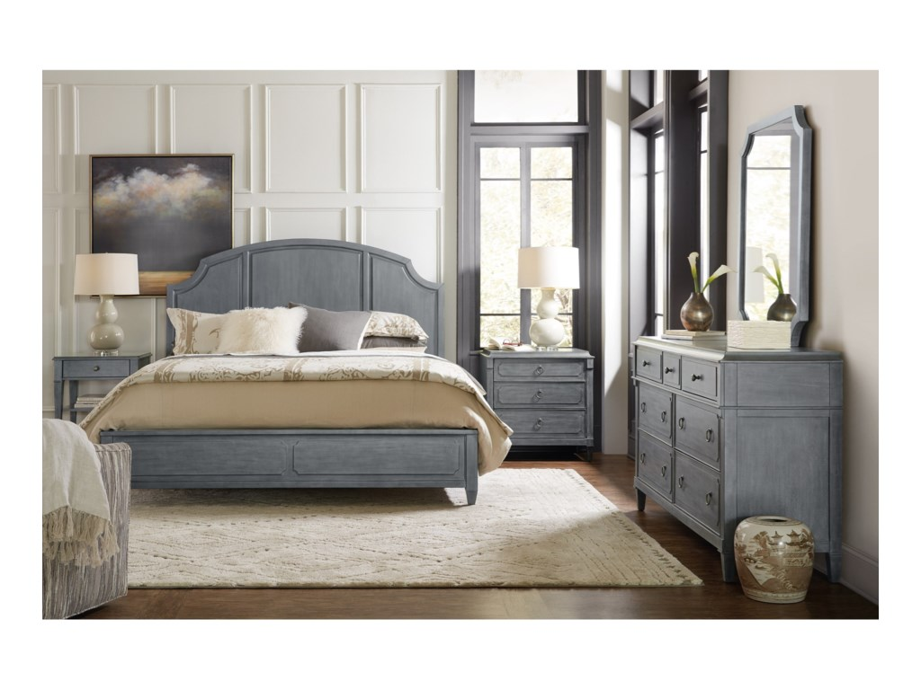 Hooker Furniture HamiltonQueen Wood Panel Bed