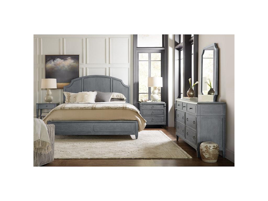 Hooker Furniture HamiltonQueen Wood Panel Bed