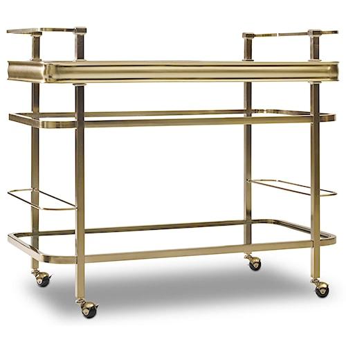 Hooker Furniture Highland Park Metal and Glass Bar Cart