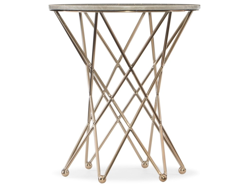 Hooker Furniture Highland ParkRound End Table w/Marble Top