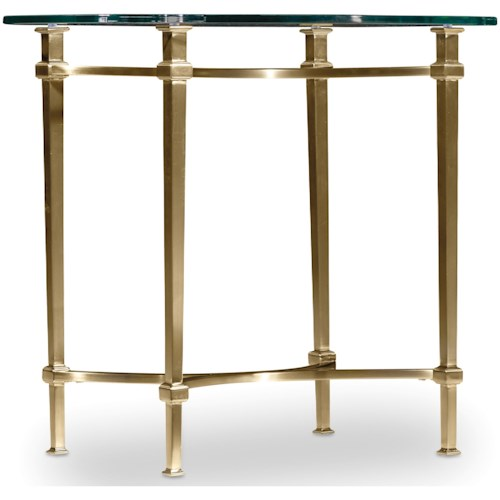 Hooker Furniture Highland Park End Table with Glass Table Top