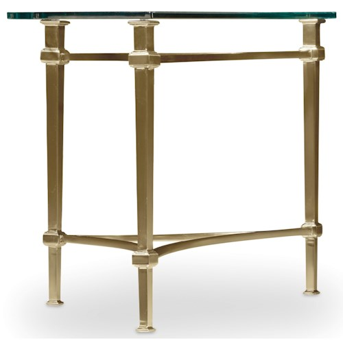 Hamilton Home Highland Park Left or Right Cocktail End Table with Glass Table Top