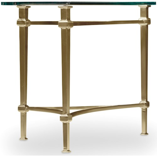 Hooker Furniture Highland Park Left or Right Cocktail End Table with Glass Table Top