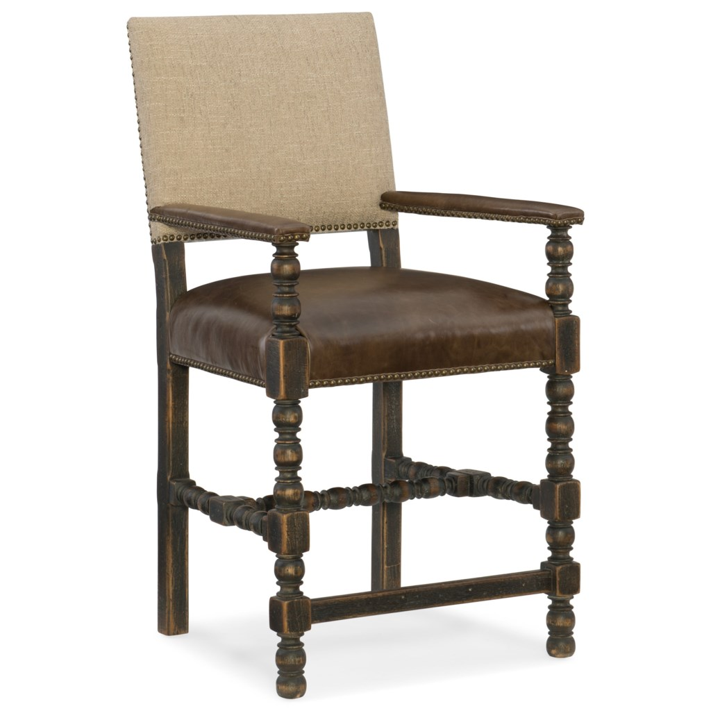Hamilton Home Hill Country Comfort Counter Stool With Leather Seat