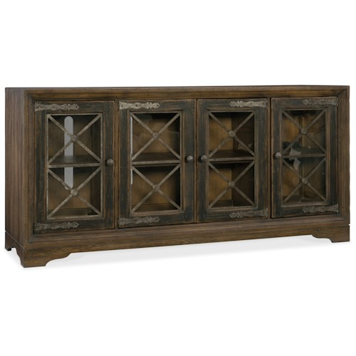 Hooker Furniture Hill Country Pipe Creek Bunching Media Console With Power Supply Stuckey