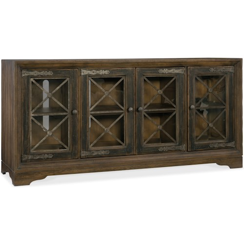 Hooker Furniture Hill Country Pipe Creek Bunching Media Console with Power Supply