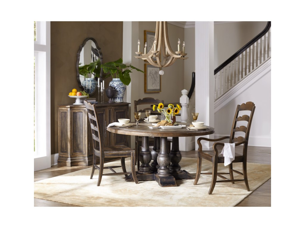 Hooker Furniture Hill CountryApplewhite 60in Round Dining Table