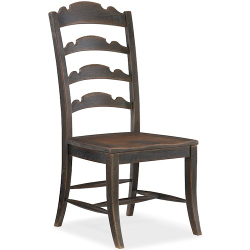 Hooker Furniture Hill Country Twin Sisters Ladderback Side Chair