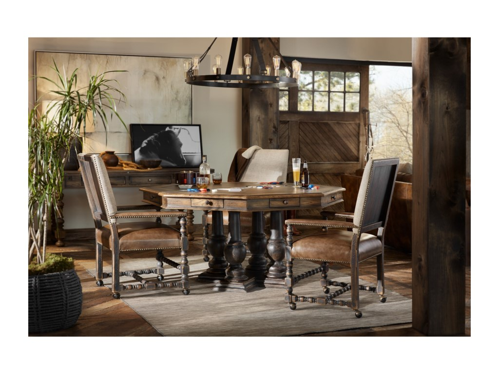 Hooker Furniture Hill CountryComfort Castered Game Chair