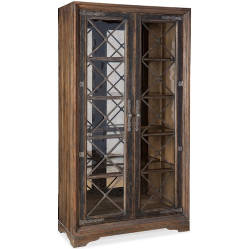 Hooker Furniture Hill Country Sattler Display Cabinet with Touch Switch