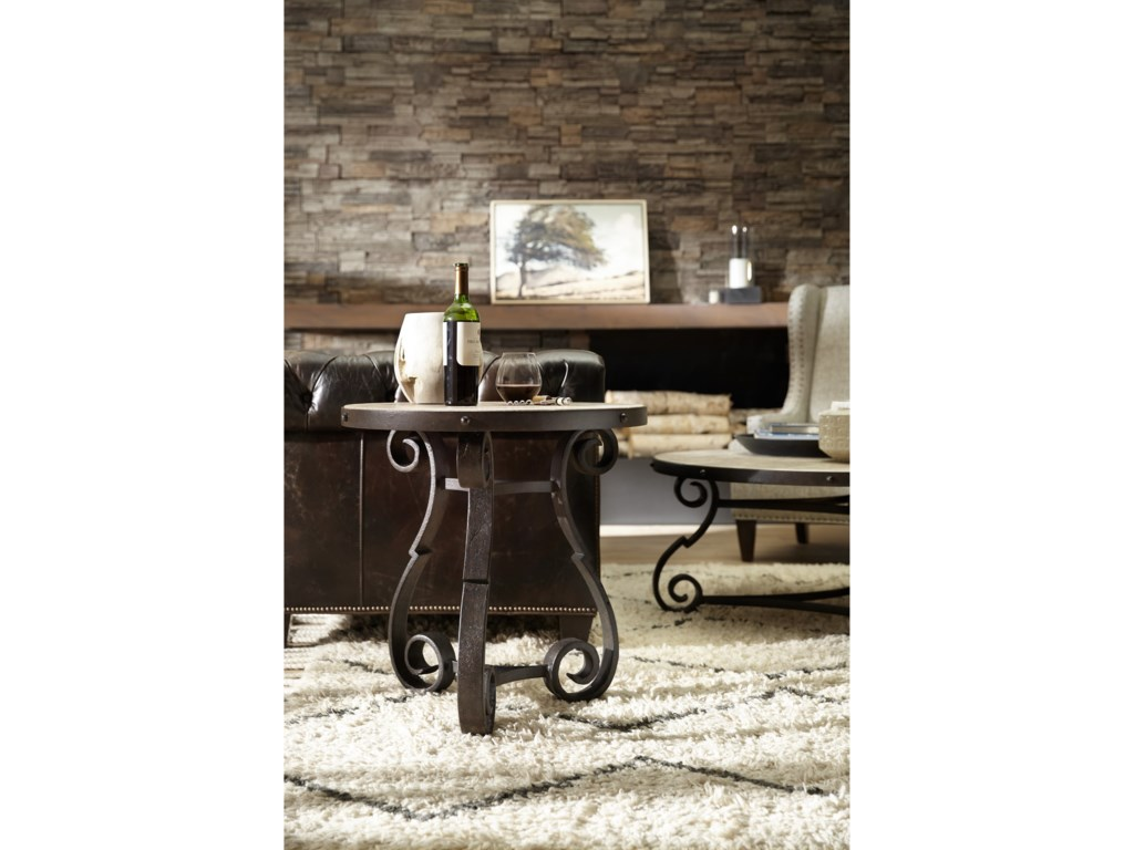 Hooker Furniture Hill CountryLuckenbauch Metal and Stone End Table