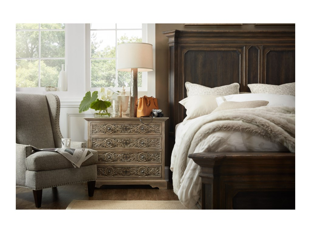 Hooker Furniture Hill CountryWoodcreek Queen Mansion Bed