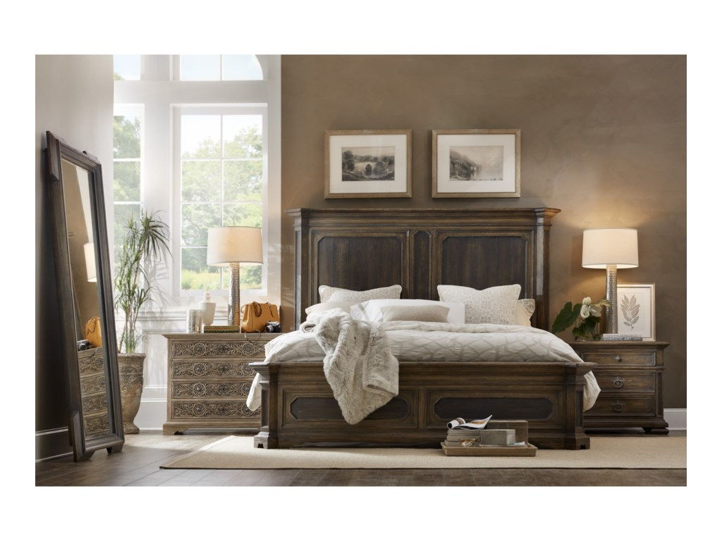 Hooker Furniture Hill CountryWoodcreek California King Mansion Bed