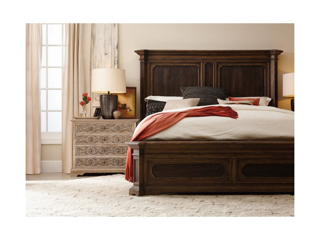 Hooker Furniture Hill CountryWoodcreek King Mansion Bed