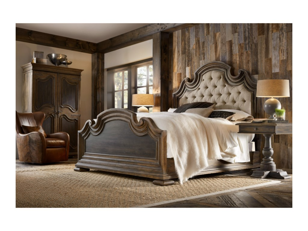 hooker bedroom furniture.  Hooker Furniture Hill CountryFair Oaks Queen Upholstered Bed Country 5960 90850 MULTI Fair