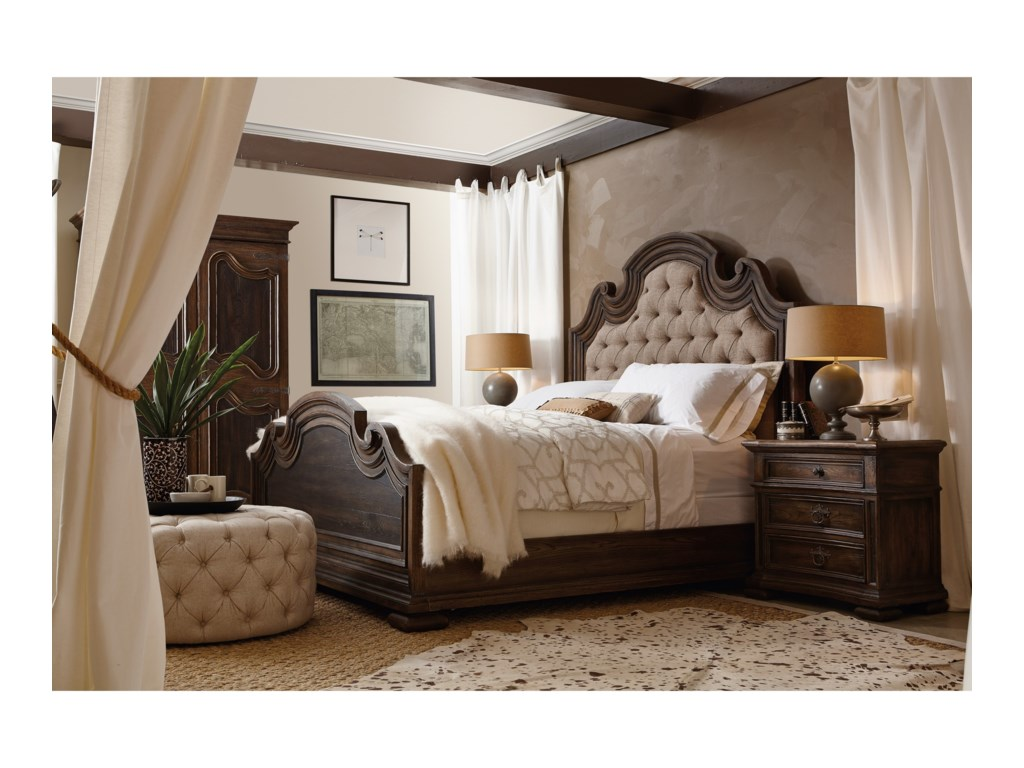 Hooker Furniture Hill CountryFair Oaks King Upholstered Bed