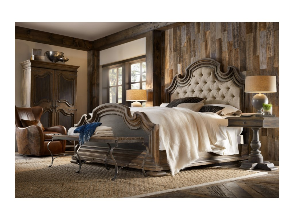 Hooker Furniture Hill Country Fair Oaks King Upholstered Bed Story