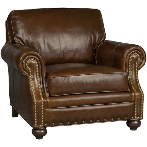 Hooker Furniture Jennings Traditional Leather Stationary Chair