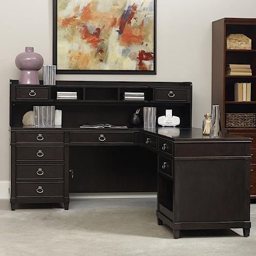 Hooker Furniture Kendrick L Desk with Hutch