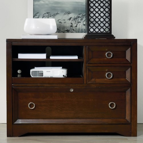 Hooker Furniture Kinsey Contemporary Utility File with Pull-Out Printer Tray