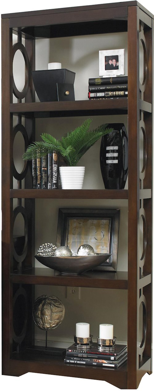 Hooker Furniture Kinsey Contemporary 3 Shelf Etagere with Open Circle Fretwork