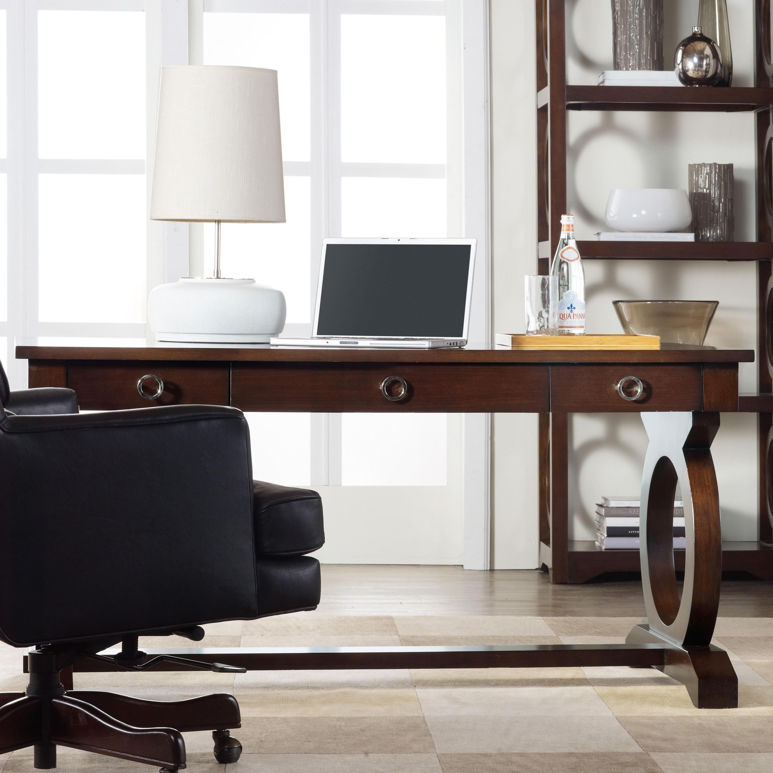 Gentil Hooker Furniture Kinsey Contemporary Writing Desk With Drop Front Keyboard  Drawer And Open Circle Fretwork