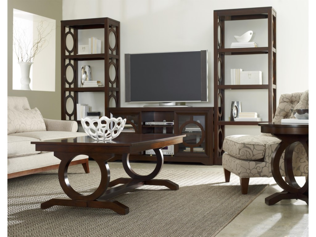 Shown with Etageres, Entertainment Console and Cocktail Table