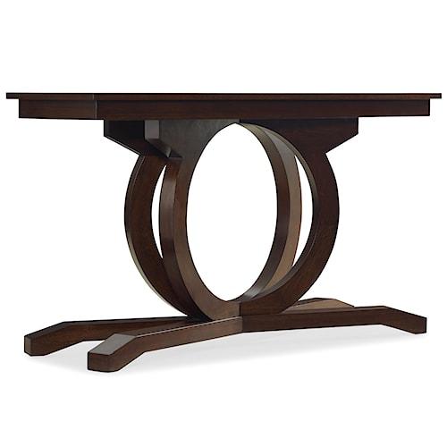 Hooker Furniture Kinsey Rectangular Sofa Table with Curved Pedestal Base