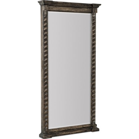 Vail Floor Mirror w/ Jewelry Storage