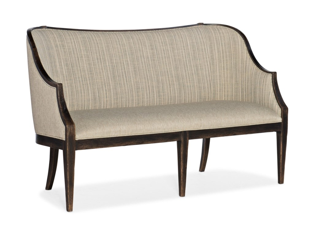 La Grange Transitional Olden Settee With Exposed Wood Frame By Hamilton Home At Rotmans